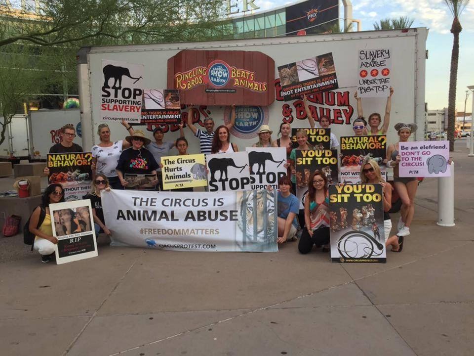 Ringling Bros Protest, Phoenix, 2015