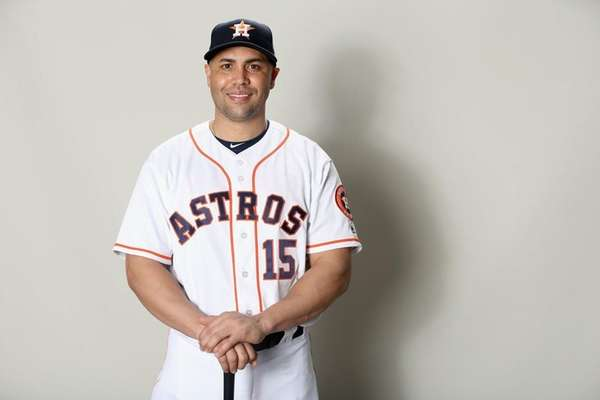 Carlos Beltranof the Houston Astros poses for a