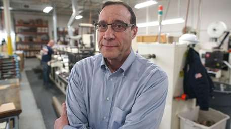 Bradley Cohn at his Precision Label Corp. plant