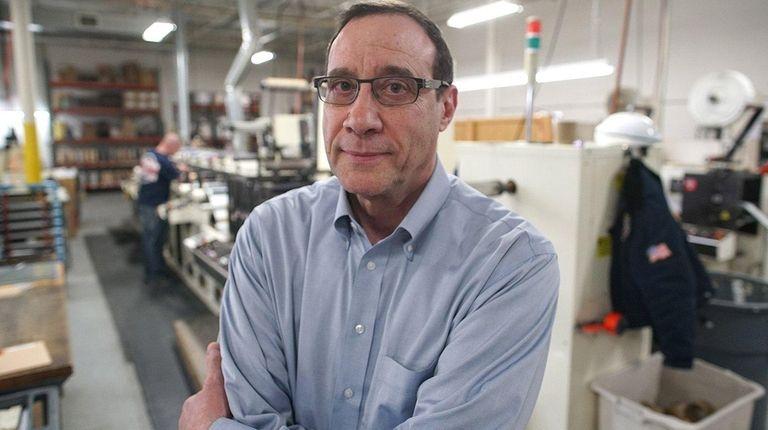 Bradley Cohn at his Precision Label Corp. plant