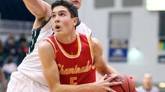 Chaminade's Michael O'Connell drives to the basket during