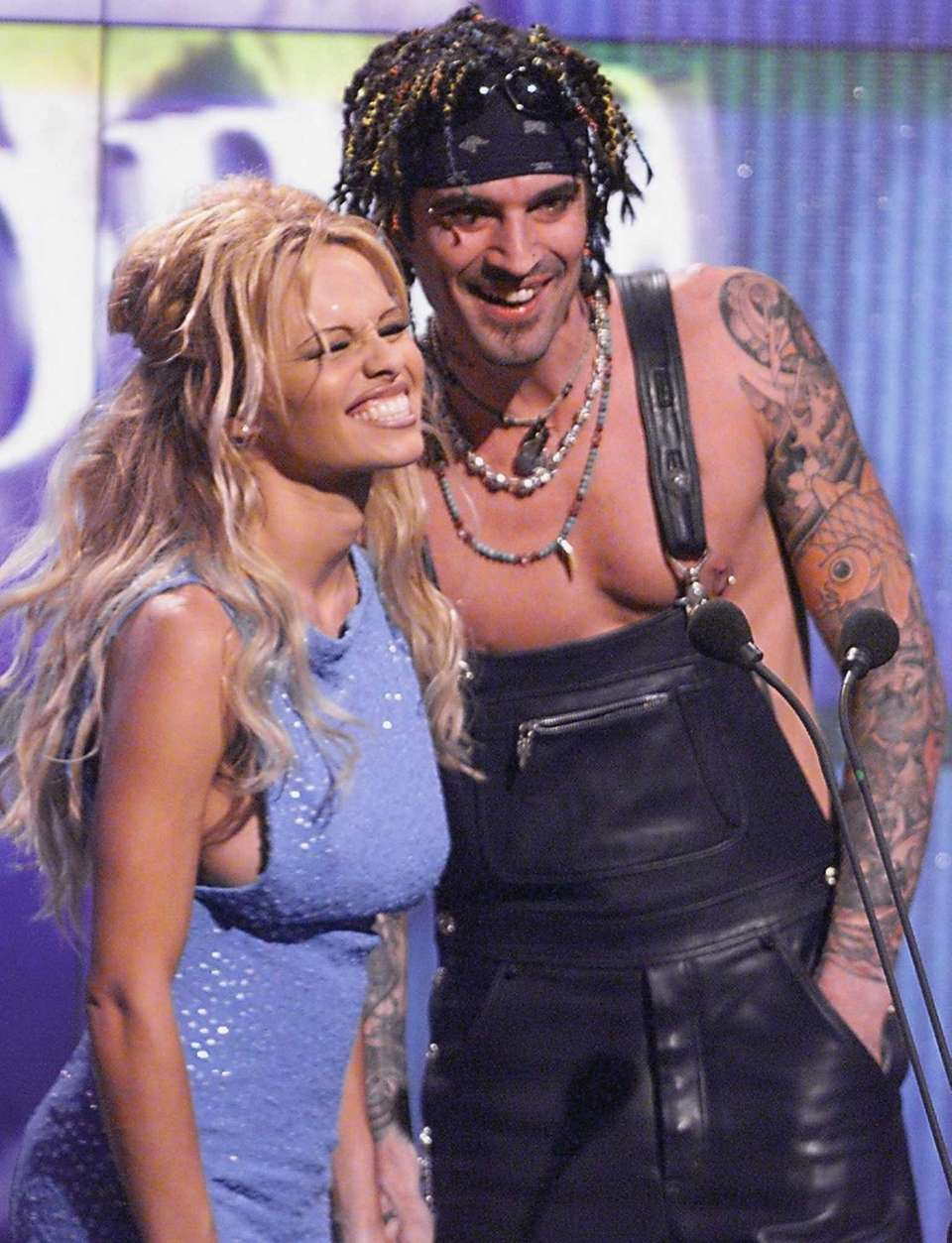 Actress Pamela Anderson and rock drummer Tommy Lee