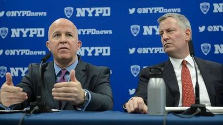 NYPD Commissioner James P. O'Neill, left, and NYC