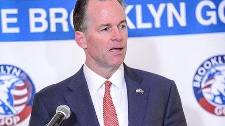 Paul Massey speaks during the Brooklyn GOP mayoral