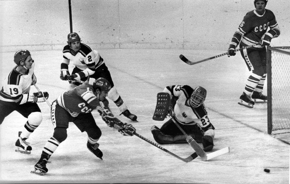 Vladimir Petrov, a two-time Olympic hockey champion who