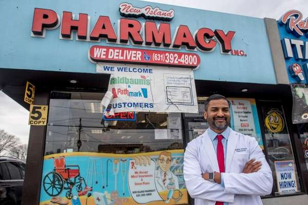 Nidhin Mohan, at New Island Pharmacy, a small