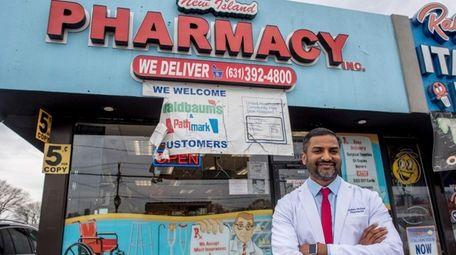 Nidhin Mohan, at New Island Pharmacy, a small