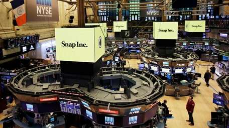 Snap Inc. banners went up Thursday, March 2,
