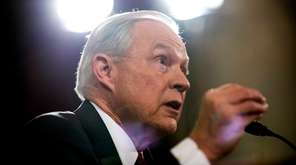 Jeff Sessions testifies at his confirmation hearing to