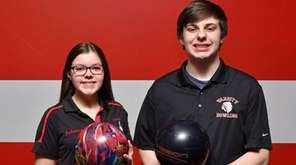 East Islip sibling bowlers Julianna and James Spina