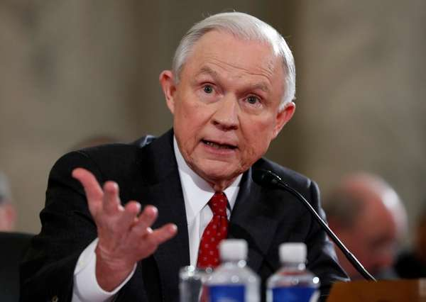 Then-Sen. Jeff Sessions testifies on Capitol Hill in