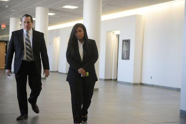 Noriella Santos arrives to testify against her former