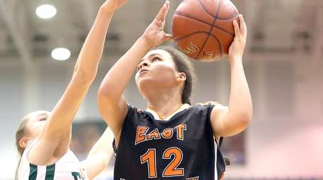 East Rockaway's Rachel Graves drives down for the