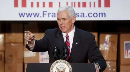 Vice President Mike Pence speaks at the Frame