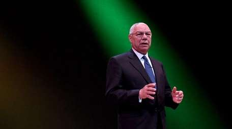 Former Secretary of State Colin Powell speaks at