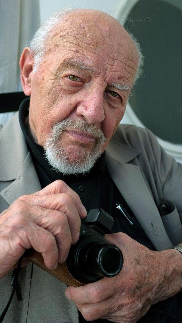 Israeli photojournalist David Rubinger in Jerusalem on Oct.