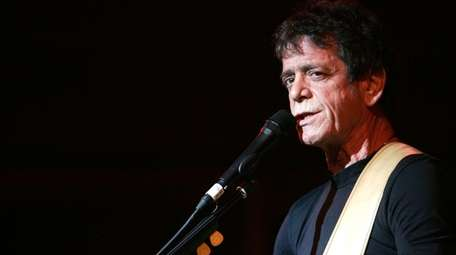 Items belonging to the late Lou Reed, pictured,