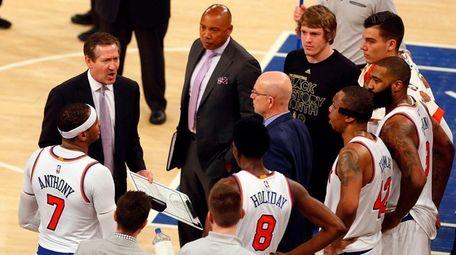 Head coach Jeff Hornacek of the New York