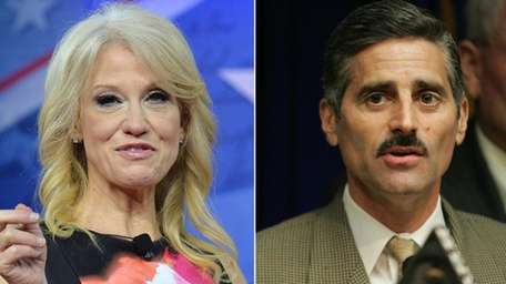 Kellyanne Conway, left, once worked for former Suffolk
