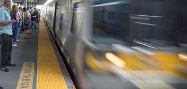 A west bound Long Island Rail Road train