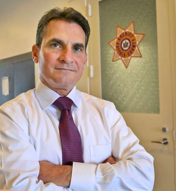 Suffolk County Sheriff Vincent DeMarco on Feb. 9,