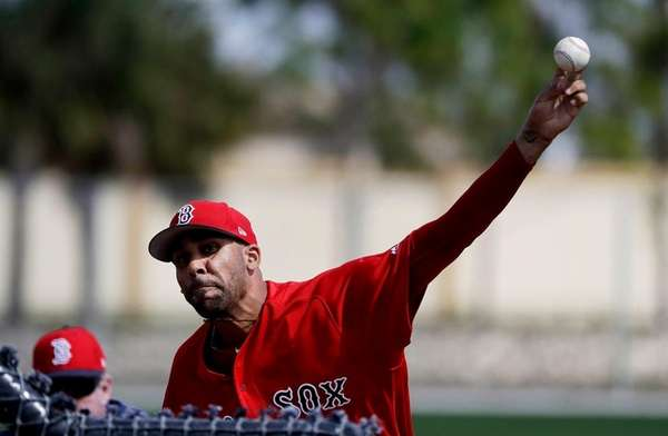 Boston Red Sox pitcher David Price throws a