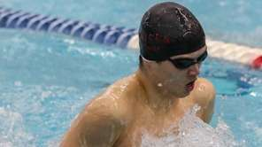 Alex Park of Half Hollow Hills swims the