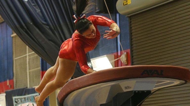 Gillian Murphy of Massapequa, competes on the Vault