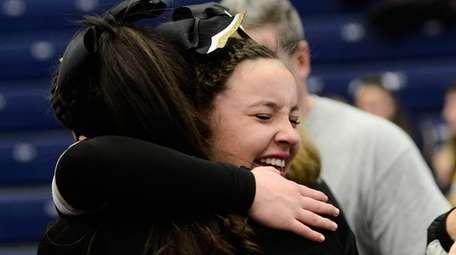 Wantagh's Olivia Krug reacts after competing in the