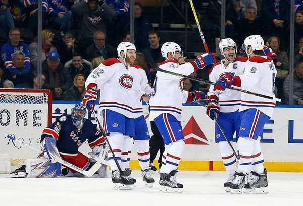Shea Weber #6 of the Montreal Canadiens celebrates