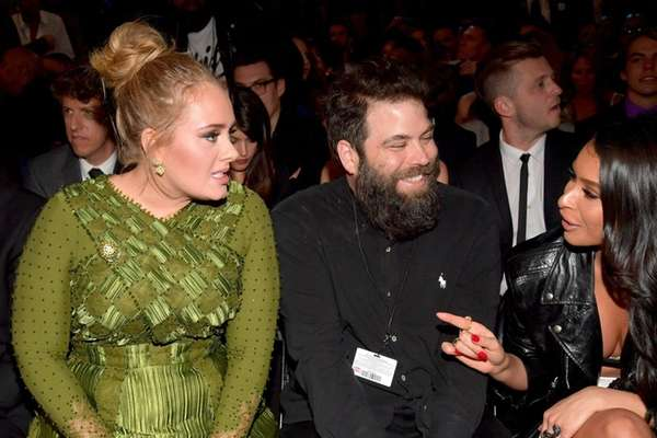 Adele and Simon Konecki at the Grammy Awards