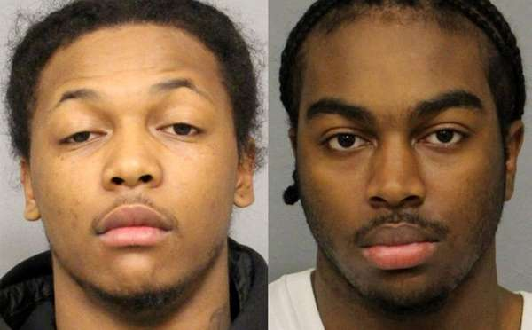 Javonne Brewster, 21, left, and Oumar Barry, 20,