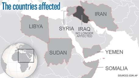 People from Sudan, Syria, Iran, Libya, Somalia and