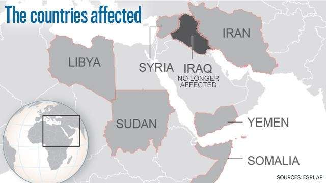 New Travel Ban Decried As AntiMuslim By Immigrant Advocates Newsday - Map of countries in us travel ban