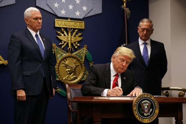 President Donald Trump signed a new travel ban