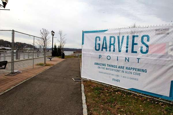 The site of the proposed Garvies Point waterfront