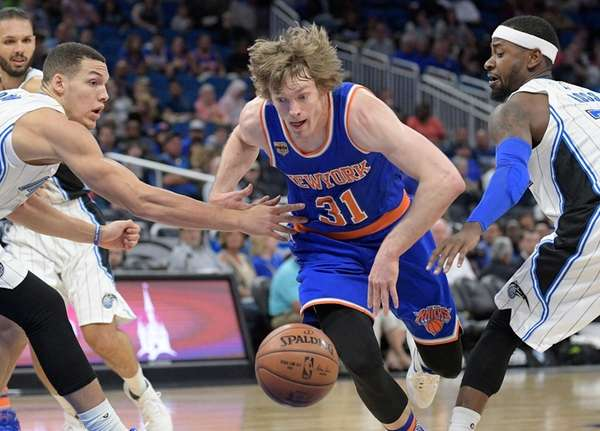New York Knicks guard Ron Baker, No. 31,
