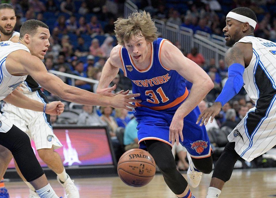 New York Knicks guard Ron Baker, No. 31,