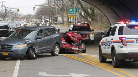 A multivehicle crash forced the closure of westbound