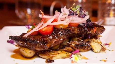 The grilled skirt steak at Our Table in