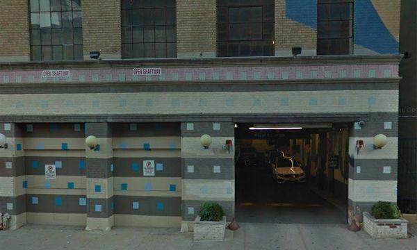 An undated Google view of a parking garage