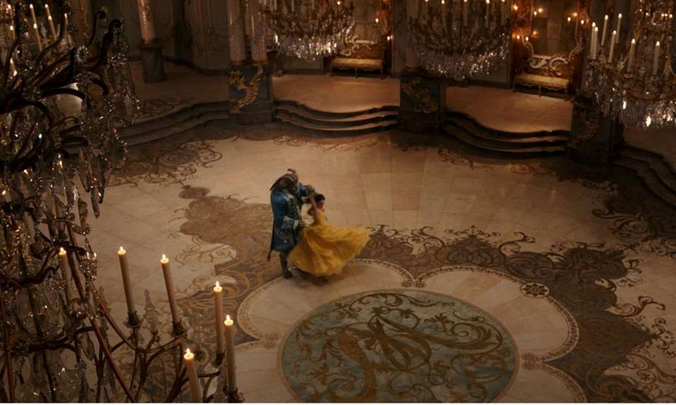The ballroom floor in the Beast's castle is