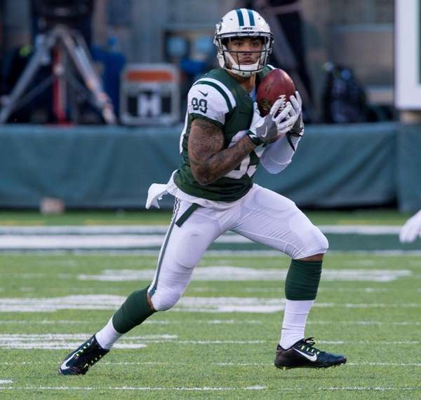 New York Jets wide receiver Jalin Marshall prepares