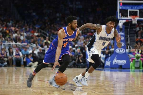 New York Knicks guard Chasson Randle (4) and
