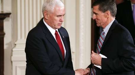 Vice President Mike Pence with ex-National Security adviser