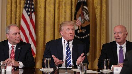 President Donald Trump speaks as House Majority Whip