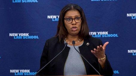 NYC Public Advocate Letitia James said Tuesday, March