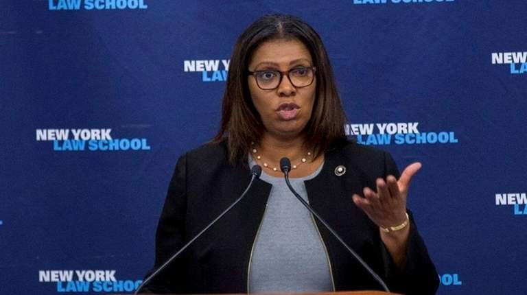 NYC Public Advocate Letitia James said Tuesday, March