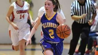 Kellenberg guard Alyssa Boll brings the ball up