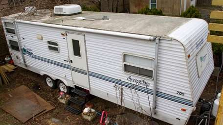 The trailer Susan and Arlette Clark-Bustamante plan to